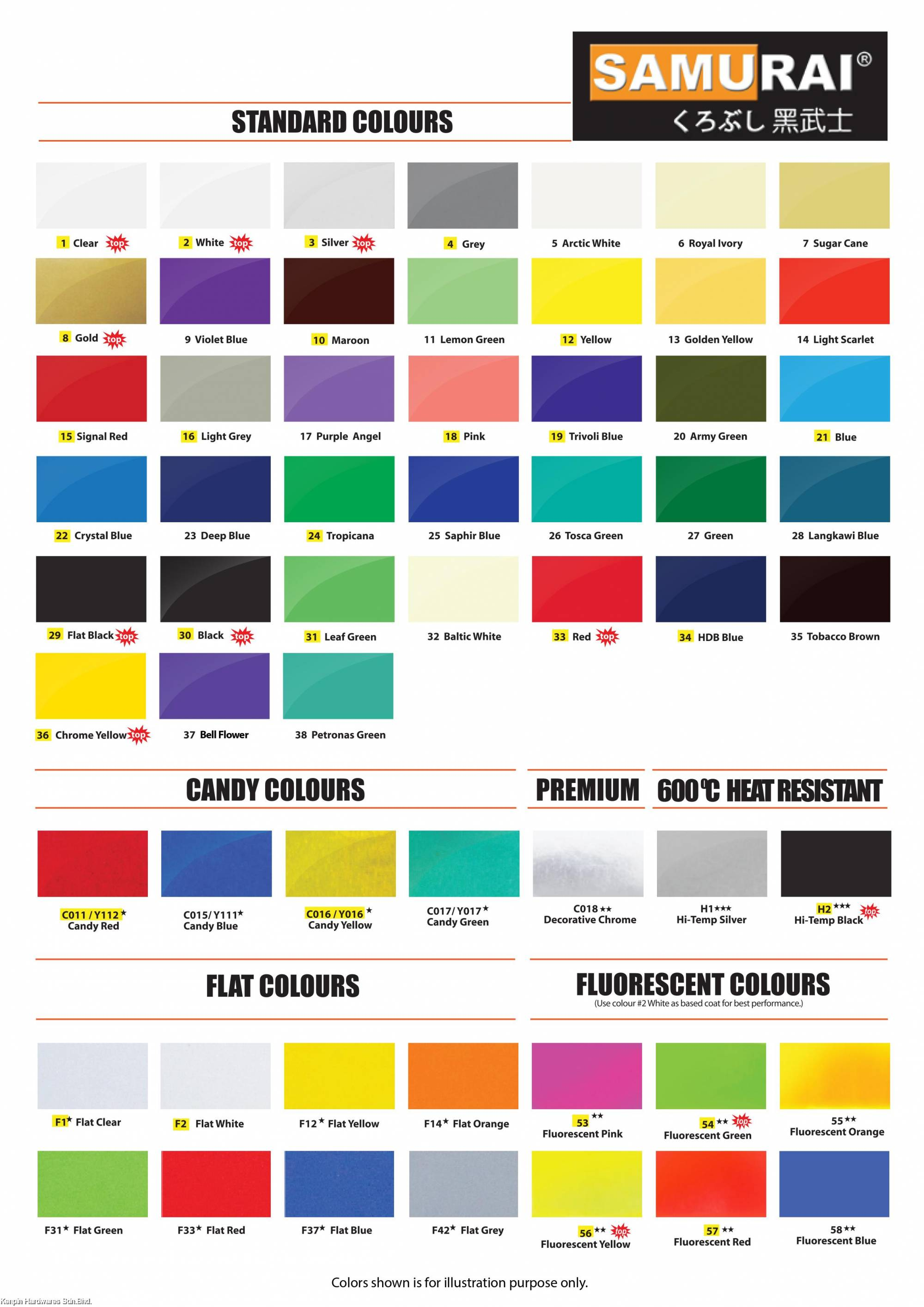 Anchor Spray Paint Color Chart
